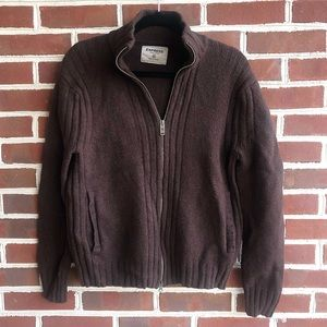 Express Men's full-zip sweater 100% lambs wool